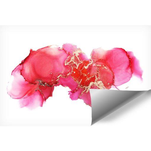Piękna akwarelowa fototapeta w różu i koralu