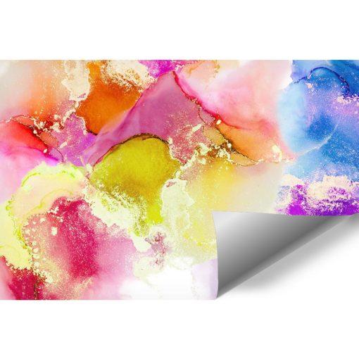 pastelowa fototapeta z plamami akwarelowymi