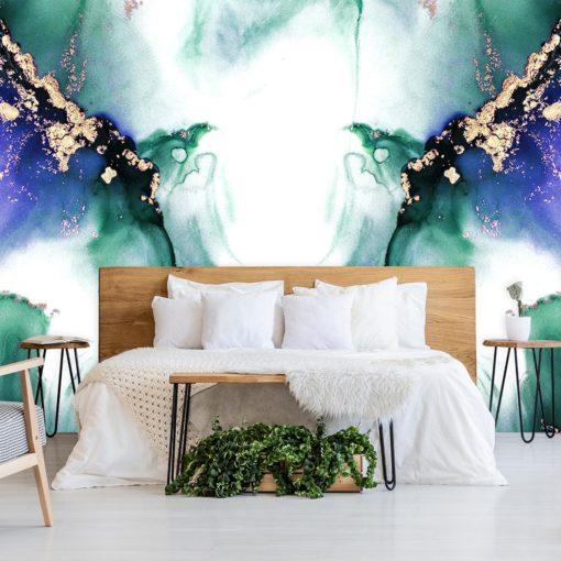 Foto-tapeta z zieloną abstrakcją