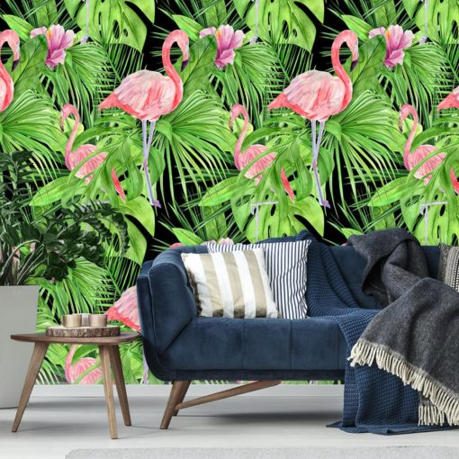 motyw tropik na fototapecie do salonu
