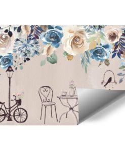 fototapeta z niebieskimi różami