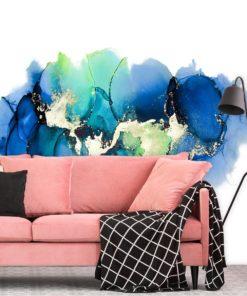 fototapeta przedstawiająca abstrakcyjne, niebieskie mazaje