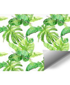 ścienna dekoracja w formie zielonego wzoru
