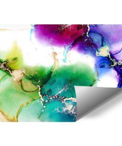 Fototapeta z kolorowymi kleksami