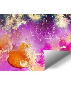 fototapeta plamki akwarelowe fioletowe i rózwoe