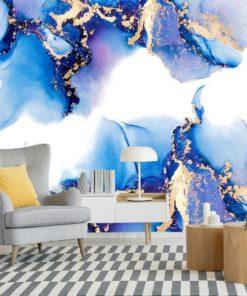 tapeta niebieska jako plamki abstrakcyjne