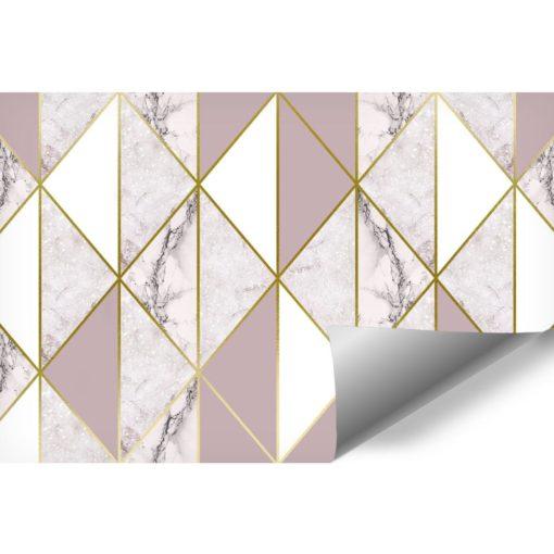 Marmur w odcieniach bieli i różu jako tapeta