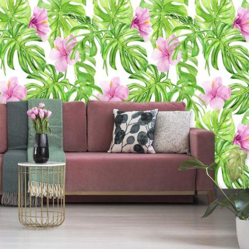 Tapeta z tropikalną roślinnością