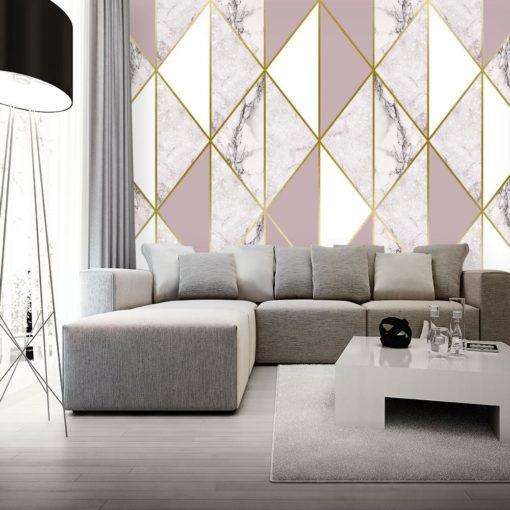 Fototapeta ze wzorem marmuru w bieli i różu