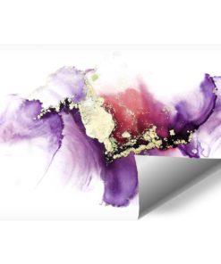 Piękna akwarelowa fototapeta we fiolecie