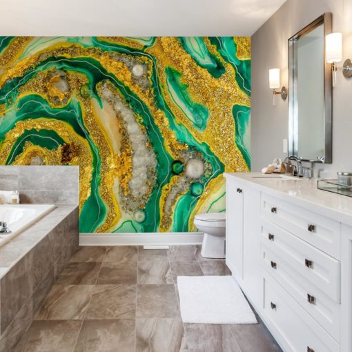 Dekoracja do łazienki -abstrakcja geode art