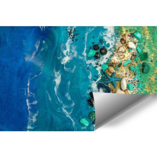 fototapeta reprodukcja sztuka żywicy morze zielony niebieski