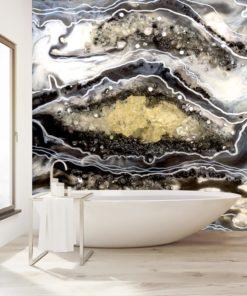 fototapeta malarstow żywicą abstrakcja do łazienki