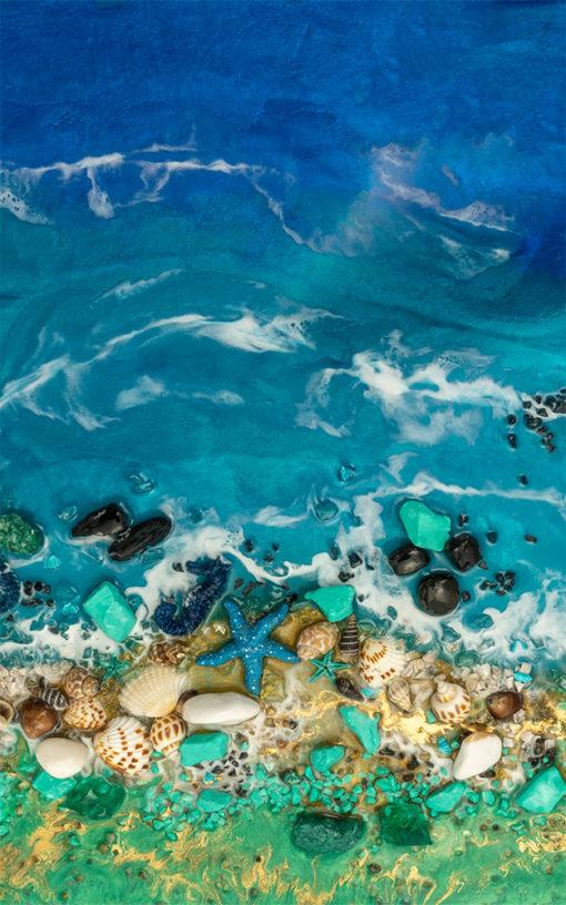 fototapeta geode morze z białymi falami