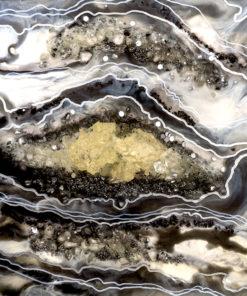 fototapeta reprodukcja malarstwa żywicznego abstrakcja z kamieniami