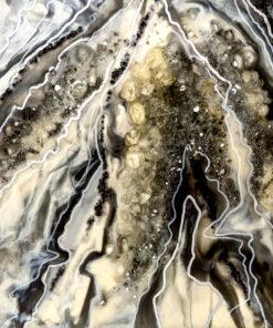 fototapeta sztuka żywiczna reprodukcja z abstrakcją kamieniami szara