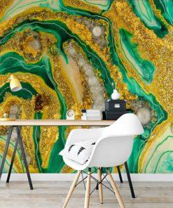 Dekoracja geode art- fototapeta do biura