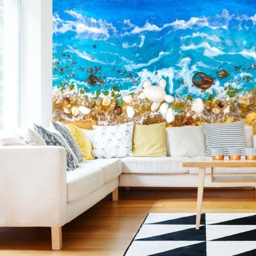 Dekoracja do salonu fototapeta morze i plaża