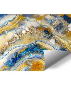 Fototapeta dekoracja z kamieniami i abstrakcją