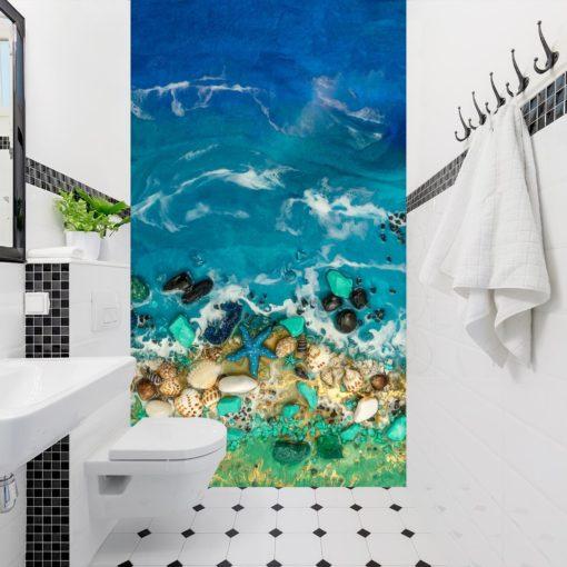 Fototapeta resin sea inspiracja do łazienki