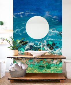 fototapeta dekoracja 3d z muszlami sztuka żywiczna motyw morza