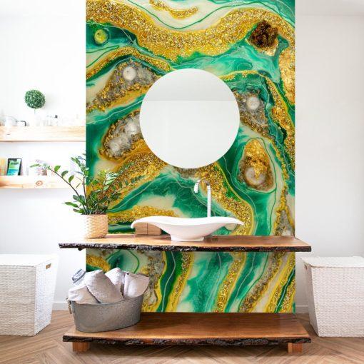 Dekoracja do łazienki - fototapeta abstrakcja