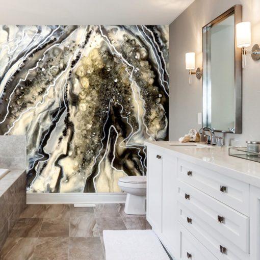 Fototapeta do łazienki abstrakcja z żywicy