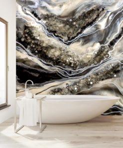 fototapeta do łazienki żywica abstrakcja geode art