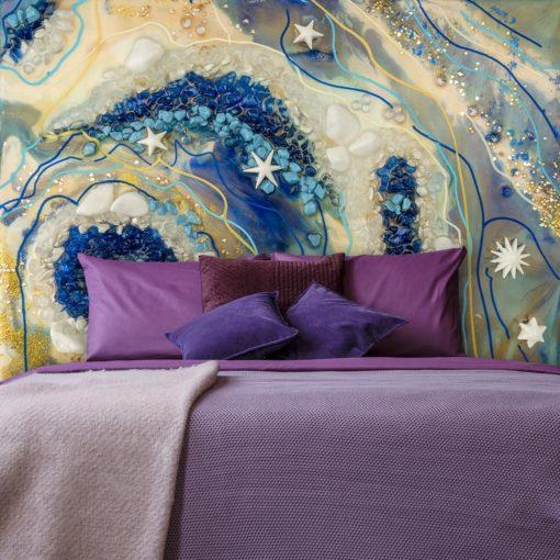 ozdoba ściany tapeta z wielkoformatową gwiazdka