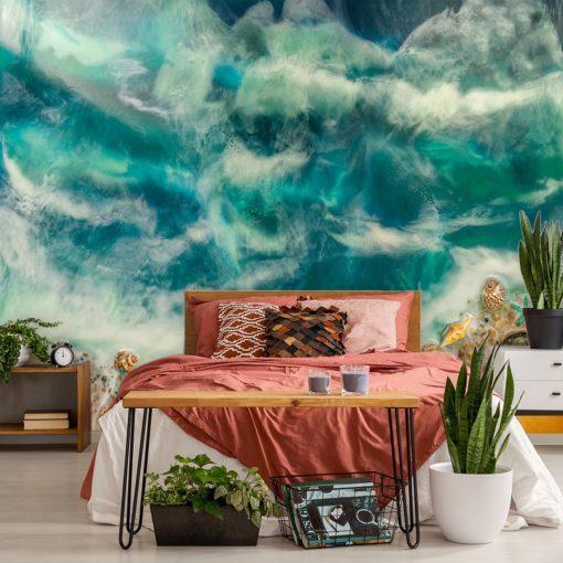 fototapeta malarstwo żywicą abstrakcja do sypialni