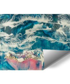 fototapeta morze z kamieniami i rozgwiazdą