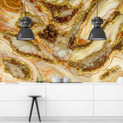 fototapeta geode art sztuka żywiczna reprodukcja abstrakcji do kuchni