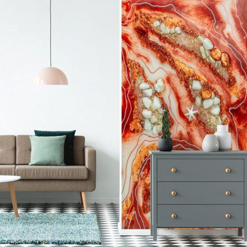 fototapeta do pokoju z motywem abstrakcji geode art