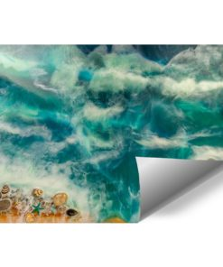 Fototapeta dekoracja z kamieniami muszlami morze i plaża