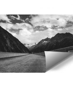 Fototapeta z drogą między górami do salonu