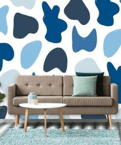Fototapeta na ścianę pokoju - Niebieska abstrakcja
