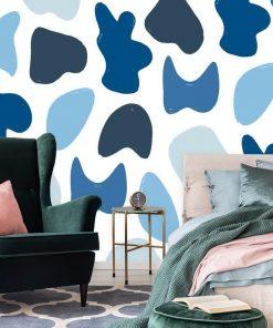 Fototapeta do sypialni - Niebieska abstrakcja