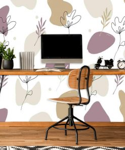Foto-tapeta do biura - Stonowana abstrakcja