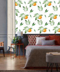 Fototapeta z motywem pomarańczy do sypialni