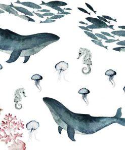 Foto-tapeta z wielorybami
