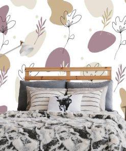 Foto-tapeta do sypialni -Stonowana abstrakcja