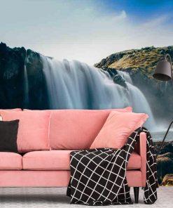 Fototapeta z wodospadem na ścianę do salonu