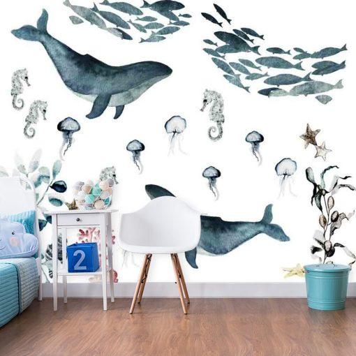 Tapeta z rybami w morzu