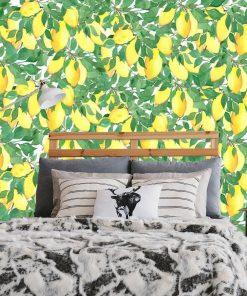 Fototapeta z cytrynami do sypialni
