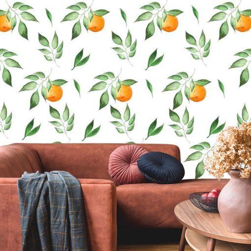 Fototapeta z motywem pomarańczy do przedpokoju