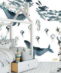 Fototapeta z wielorybami