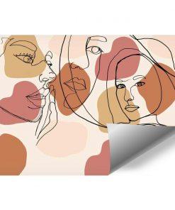 Fototapeta z beżową abstrakcją do pokoju