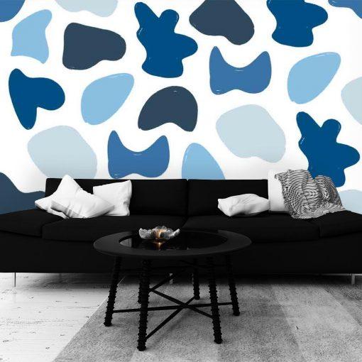 Fototapeta do salonu - Niebieska abstrakcja