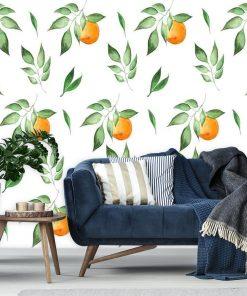 Fototapeta z motywem pomarańczy do salonu
