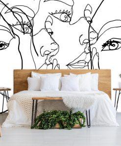 Fototapeta z twarzą kobiet do sypialni